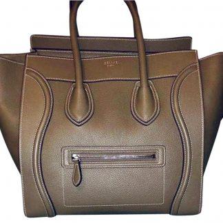 65c547675956 Best Cheap Céline Imitation Luggage Tote Grey Mouse Leather Satchel celine  bag replica