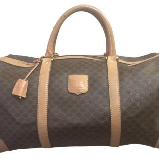 96099e2ec Cheap Céline 1:1 Mirror Replica Macadam Brown Weekend/Travel Bag high  quality prada replica handbags ...