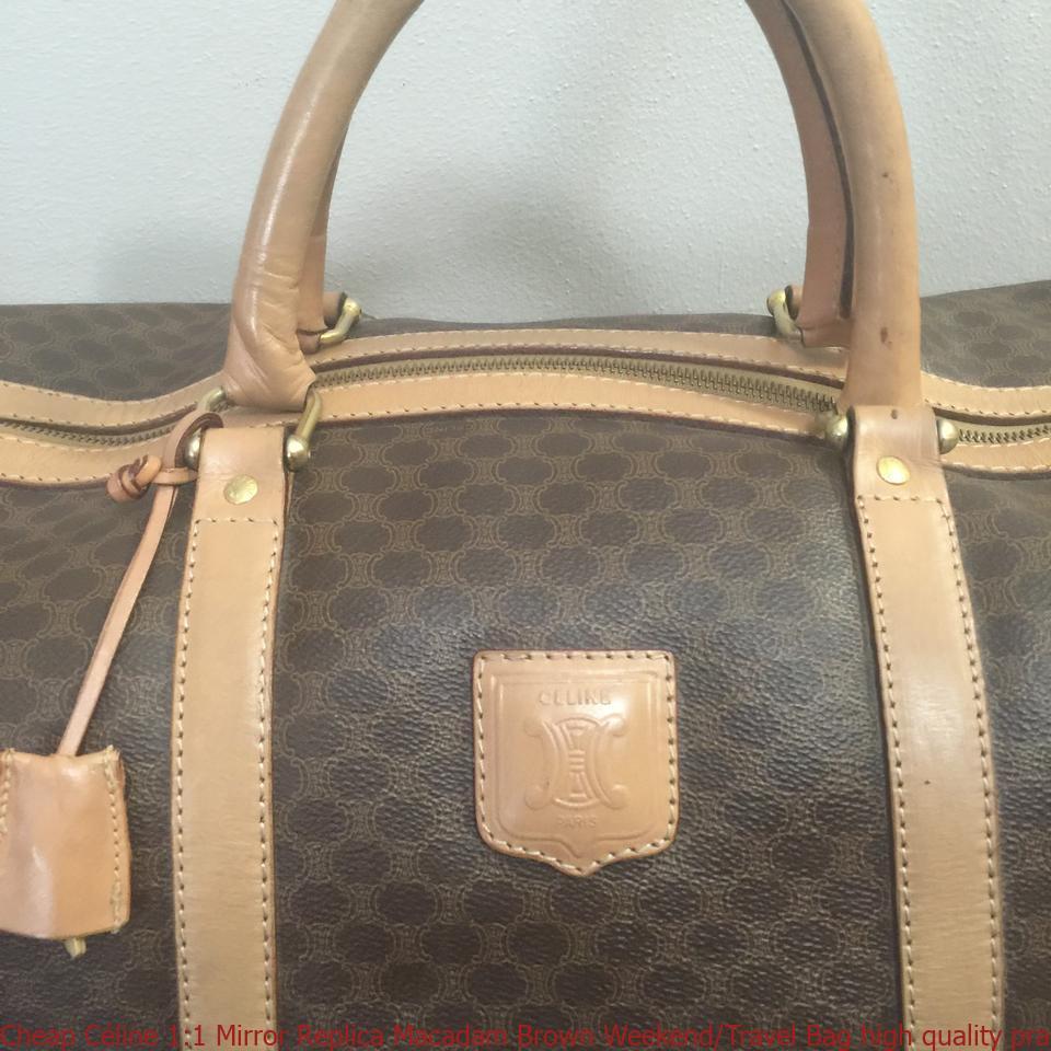 Cheap Céline 1 1 Mirror Replica Macadam Brown Weekend Travel Bag high  quality prada replica handbags 1334b99785eed