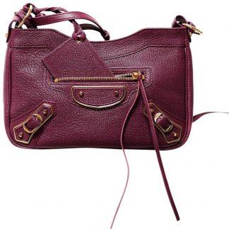 Designer Balenciaga 1 1 Mirror Replica Metallic Edge Hip Plum Leather Cross  Body Bag balenciaga replica ikea bag 3371e1490cad4