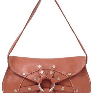 9b689b436c52 Highest Quality Céline 7 Star Replica Studded Cognac Handbag Dark Tan    Light Brown Leather Shoulder Bag celine belt bag