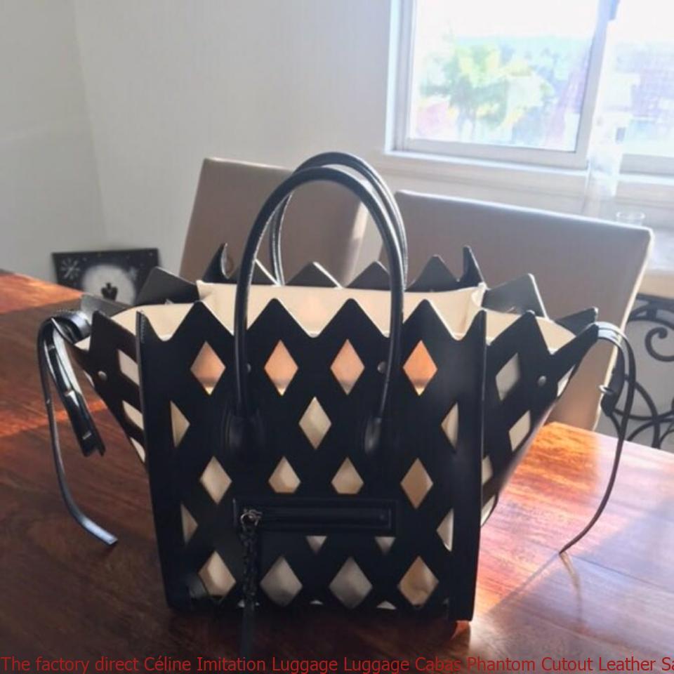 e45f3bdc045c The factory direct Céline Imitation Luggage Luggage Cabas Phantom Cutout  Leather Satchel celine belt bag