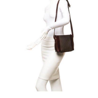Top Designer Qualities Céline 1 1 Mirror Replica Vintage Canvas Leather  Logo Shoulder Brown Cross Body Bag celine nano bag 50cb3745323a1