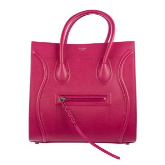 329b3f11f5b2 Top Designer Qualities Céline Imitation Cabas Phantom Fuchsia Grained  Calfskin Leather Satchel replica handbags