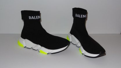 US Balenciaga Imitation Black Knit High Top Cuffed Sock Speed Trainers Sneakers Sneakers balenciaga replica