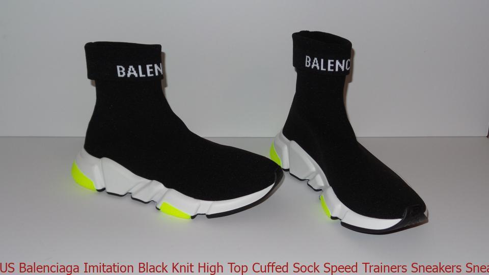 99af519f214 US Balenciaga Imitation Black Knit High Top Cuffed Sock Speed Trainers  Sneakers Sneakers balenciaga replica